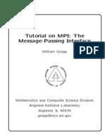 Mpi Basics