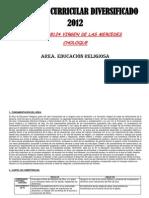 DIVERSIFICACIÓN - ÁREA EDUCACIÓN RELIGIOSA