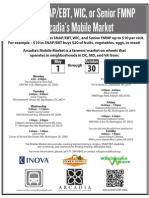 Arcadia Mobile Market Schedule Flyer 2013