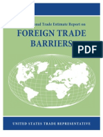 USTR Report on Foreign Trade Barriers 2013