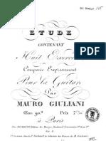 Giuliani Mauro op 90, Etudes