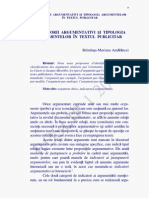 Tipologia Argumentelor in Textul Publicitar
