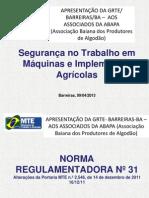 Seguranca No Trabalho Em Maquinas e Implementos Agricolas