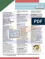 4 1 2013 cooperation tolerance newsletter