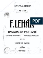 Lehar - hungarian Fantasy  violin and Piano