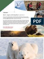 Adventure Canada 2014 Arctic Safari