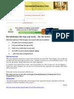 Newsletter 318 February 26 2013