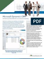 Hoja de Producto- MS Dynamics CRM Marketing