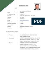 Curriculum Vitae Luis Robertoa