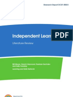 Independent Learning - DCSF Literature Review