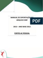 Manual DIRF 2013