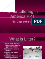 Littering In America ppt.