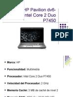 Portátil HP Pavilion dv6-1090es Intel Core 2 Duo