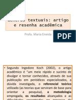 Ge^Nero Textual-Artigo Acade^Mico
