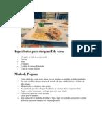 Ingredientes Para Strogonoff de Carne