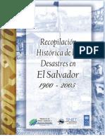 Recopilación Histórica de los Desastres en El Salvador 1900-2005