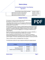 2013 Library Budget
