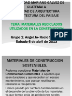 Materiales Reciclados en La Construccion