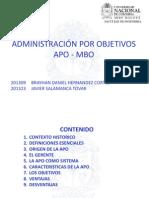 MBO Administracion X Objetivos