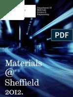 Materials at Sheffield 2012