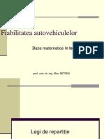 Baze Matematice in Fiabilitatea Autovehiculelor