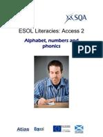 ESOL Literacies Access 2 Alphabet Numbers Phonics