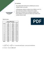 Cálculo del volumen de la rondana