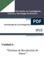 6. Profincyt - Técnicas de recolección de datos
