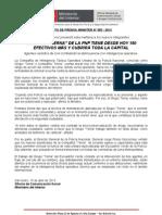 """COMPAÑÍA """"TERNA"""" DE LA PNP TIENE DESDE HOY 180 EFECTIVOS MÁS Y CUBRIRÁ TODA LA CAPITAL"""