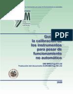 SIM Guia Calibracion de Instrumentos Para Pesar No Automatico