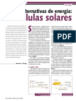 Fontes alternativas de energia. As células solares