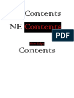 Name Ideas for Contents Page