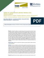 B - MALAVAZZI,D.(2011) - Análise do comportamento aplicada, interface entre ciência e prática Z
