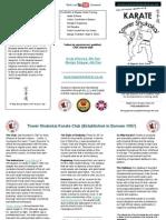 Karate info flyer