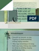 Pang-uri Ng Cebuano at Tagalog