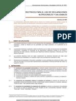 Norma General de Declaraciones Nutricionales y Saludables