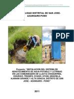 Instalacion Del Sistema de Agua y Letrina