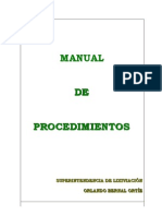 Modif. manual procedimientos lixiviación
