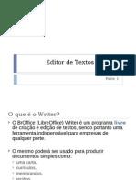 Editor de Textos - Writer Parte 1