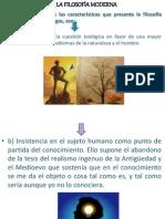 CARACTERISTICAS FILOSOFÍA MODERNA