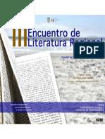 Programa III Encuentro de Literatura Regional