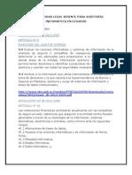 Normatividad Legal Vigente de Auditoria Informatica