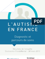 Autisme France Enquete Doctissimo Fondation Fondamental