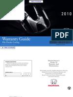 2010 Honda Warrenty Guide