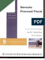 GUIA Derecho Procesal Fiscal Area VII-Derecho Fiscal