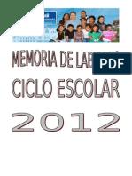 Memoria+de+Labores+2012