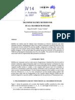Transfer Matrix Method for Dual Chamber by Mihai
