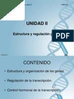 Unidad II-Estructura y Regulacion Genetica