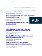 .Net Jobs From Jobs Bridge