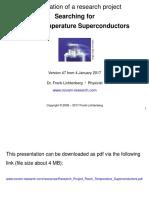 Research Project Room Temperature Superconductors